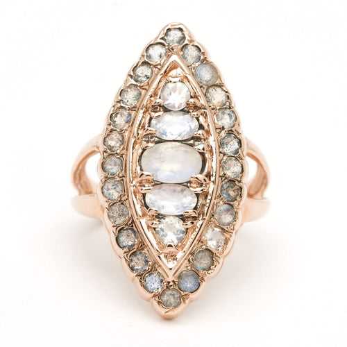 Shield Marquise Ring