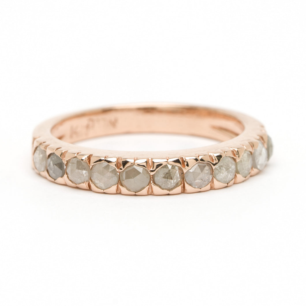 Arched Diamond Stacking Ring