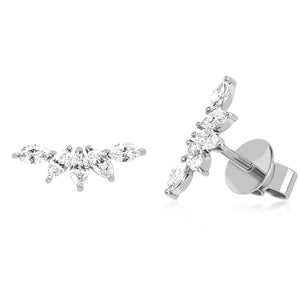 Diamond Marquise Fan Earring