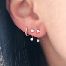 Diamond Floating Jacket Earrings