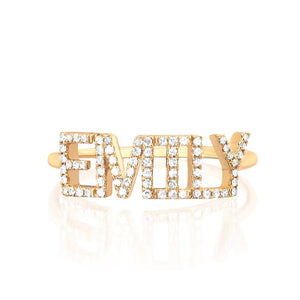Custom Diamond Name Ring