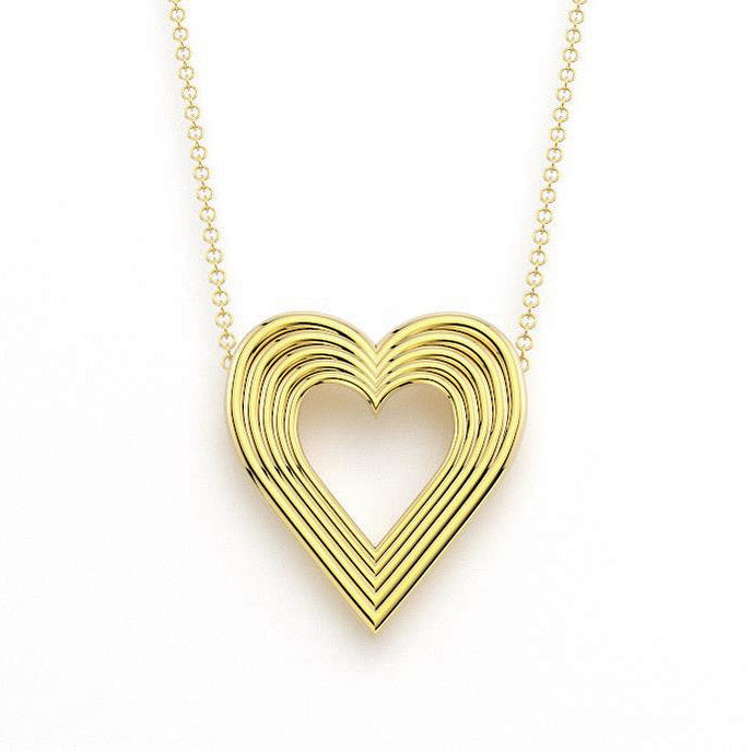 Radiant Jumbo Heart Necklace