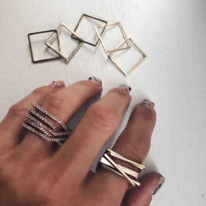 Five Band Two Tone Puzzle Ring