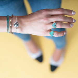 The Ashleigh Bergman Collective x Ariel Gordon Jewelry Turquoise Heart Signet Ring