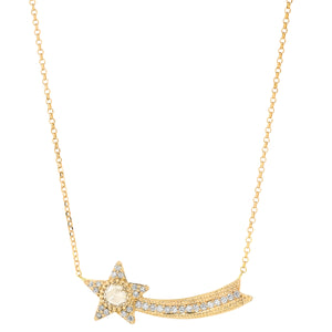 The Ashleigh Bergman Collective x Charlie and Marcelle Rosecut Diamond Shooting Star Necklace