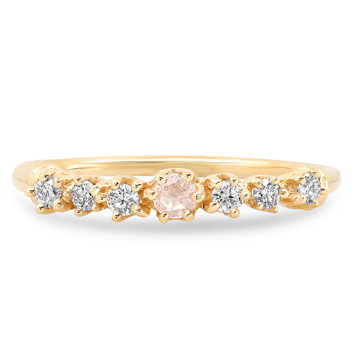 The Ashleigh Bergman Collective x Charlie and Marcelle Rosecut Diamond Stacking Ring