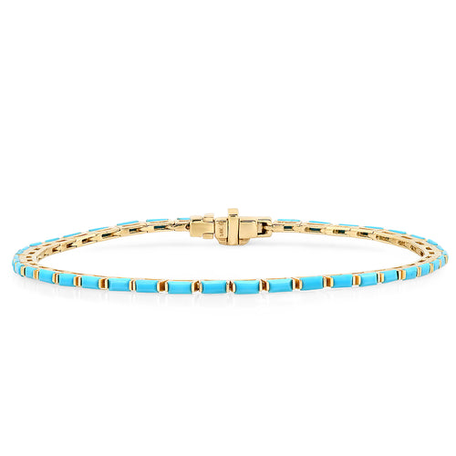 The Ashleigh Bergman Collective x Eriness Turquoise Baguette Tennis Bracelet