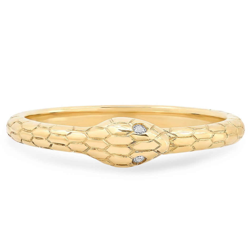 The Ashleigh Bergman Collective x Maya Brenner Diamond Snake Band Ring