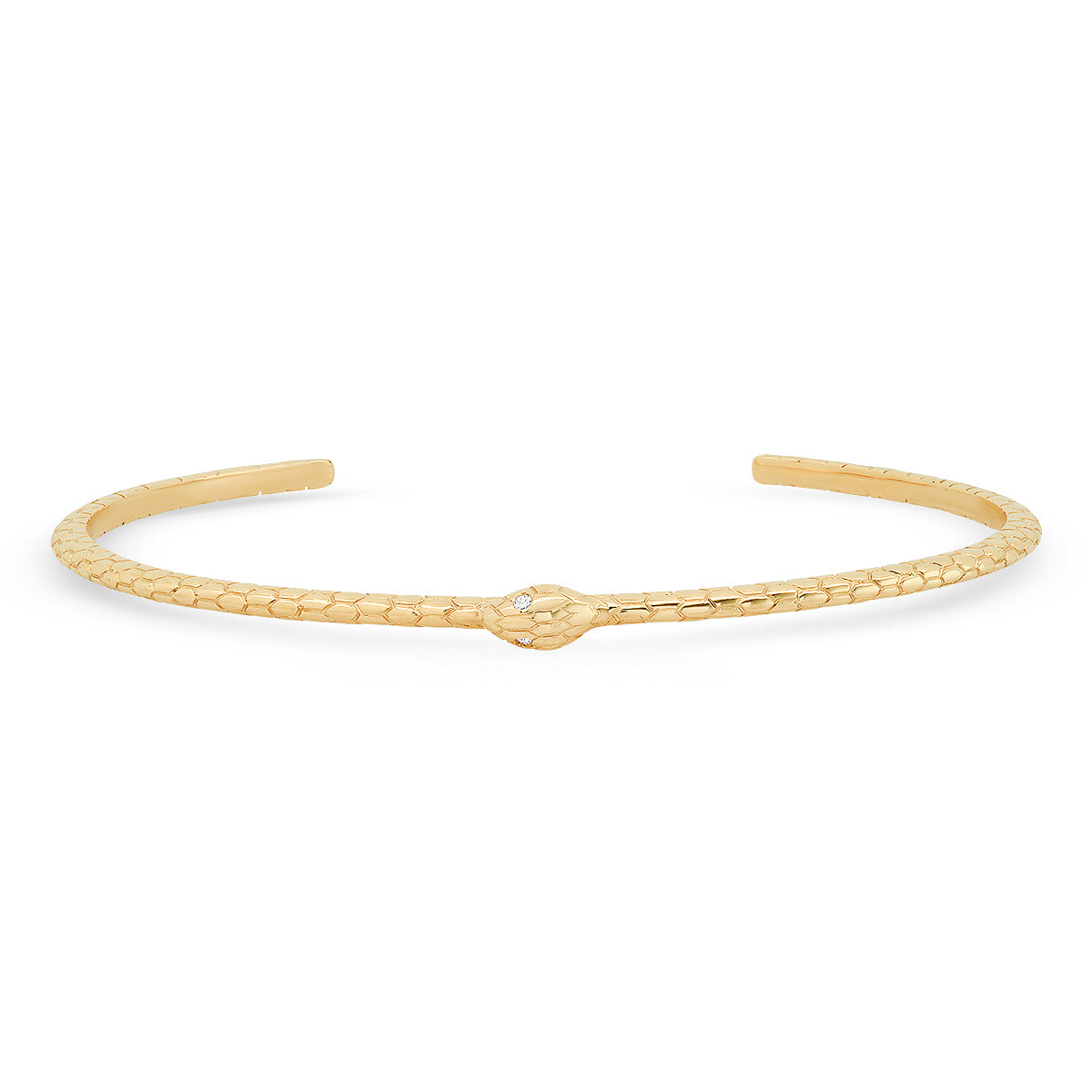 The Ashleigh Bergman Collective x Maya Brenner Diamond Snake Cuff Bracelet