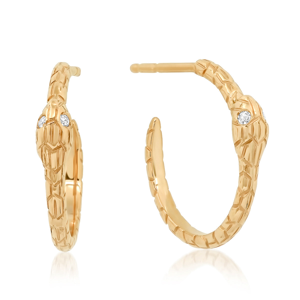 The Ashleigh Bergman Collective x Maya Brenner Diamond Snake Hoop Earrings