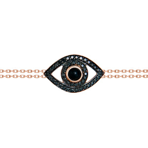 black diamond evil eye bracelet