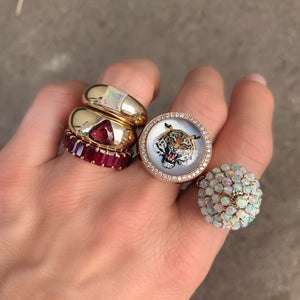 Opal Gem Dome Ring