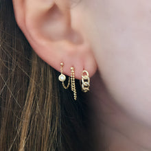 Sparkle Chain Front to Back Wrap Stud Earrings