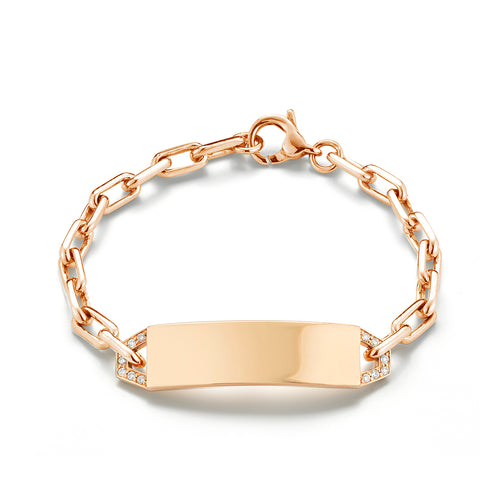 Carrington Diamond ID Bracelet (Engravable)