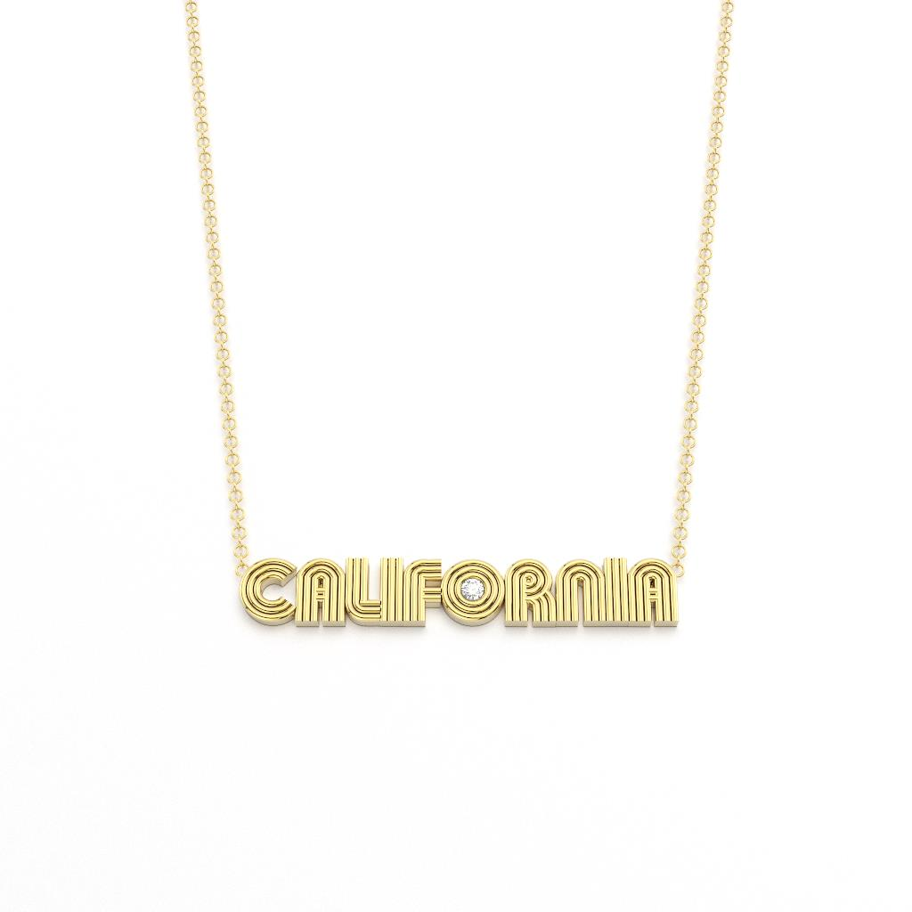 Radiant Word Nameplate Necklace