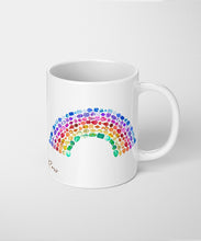 rainbow gemstone coffee mug