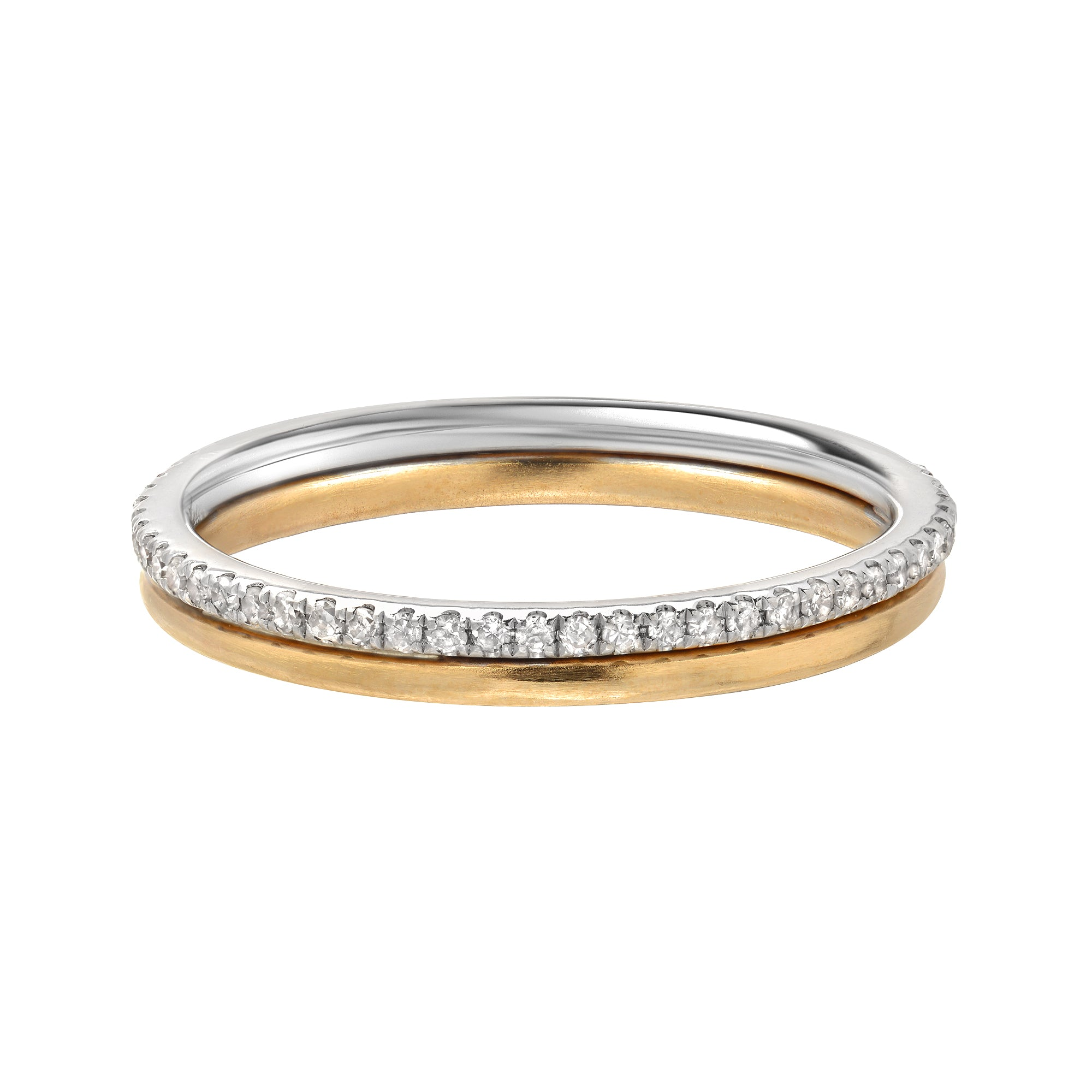 Duo Diamond Band Ring