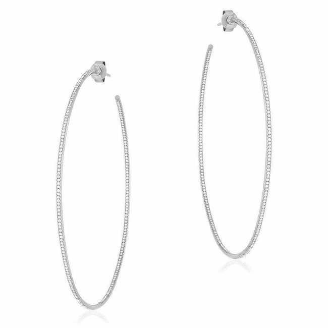 Jumbo Diamond In and Out Hoop Earrings
