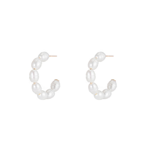 Lido Pearl Hoop Earrings