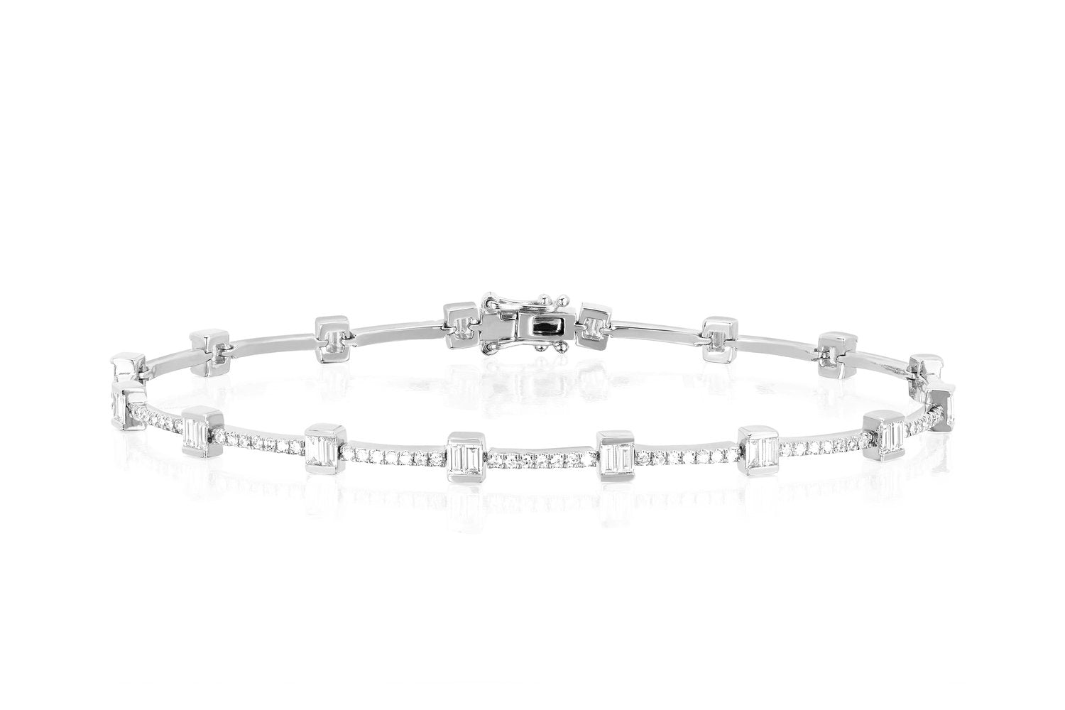 Diamond Baguette Eternity Bracelet
