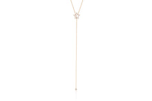 Diamond Open Star Moveable Lariat Necklace
