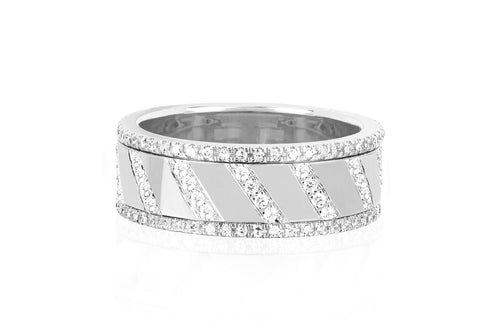 Diamond Slash Spinning Ring