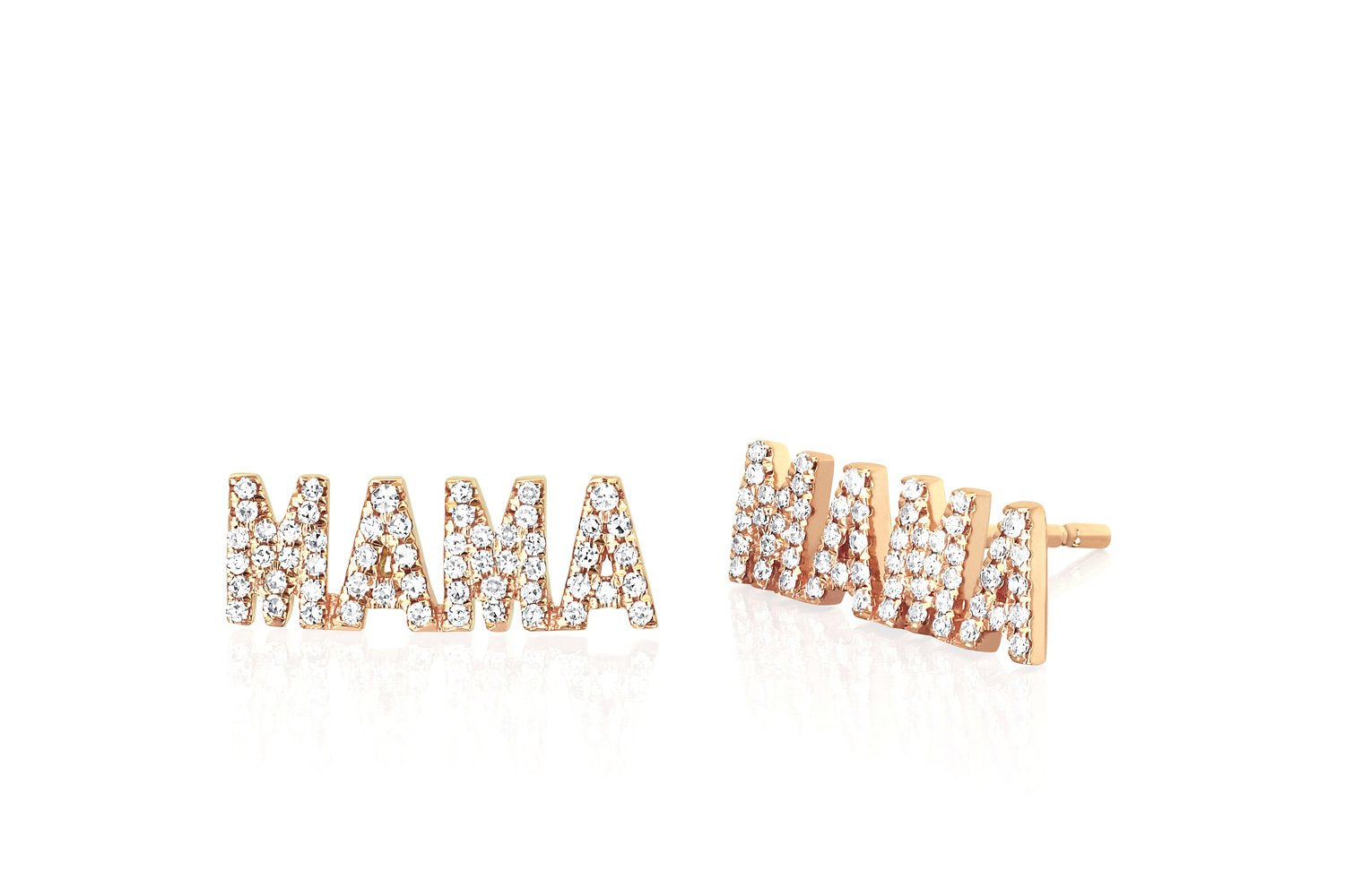 Diamond MAMA Stud Earrings