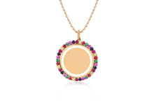 Rainbow & Enamel Disc Necklace
