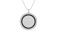 Diamond & Enamel Disc Necklace