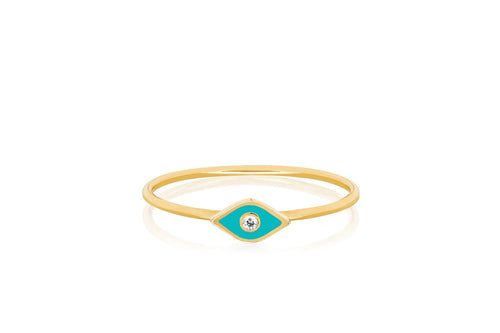 Diamond Enamel Evil Eye Ring