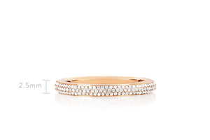 Half Diamond Half Enamel Band Ring