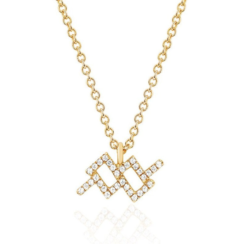 Petite Diamond Zodiac Pendant Necklace