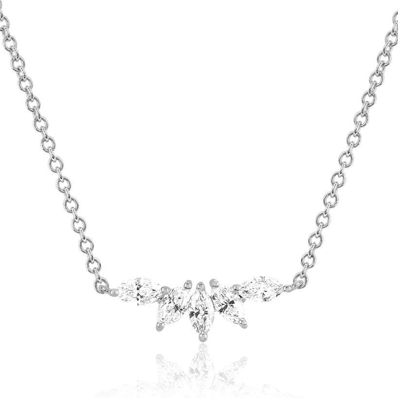 Diamond Marquise Fan Necklace