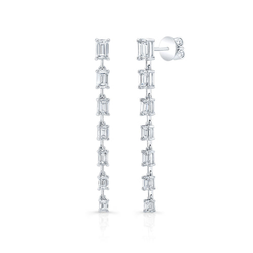 Forevermark Graduation Emerald Cut Drop Earrings