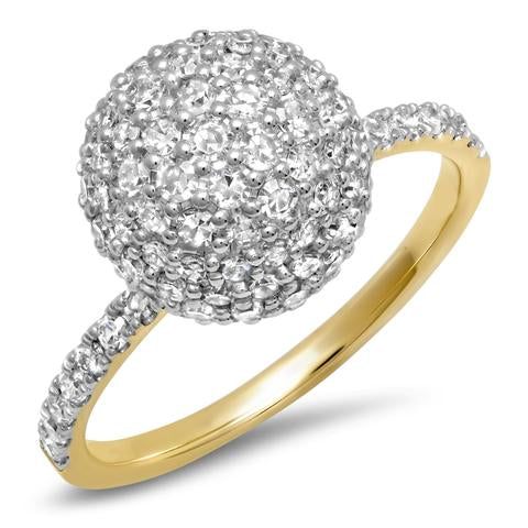 Diamond Diamond Disco Ball Ring