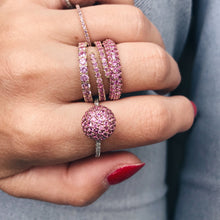 Pink Sapphire and Diamond Disco Ball Ring