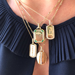 Camila Oval Diamond Baguette Locket