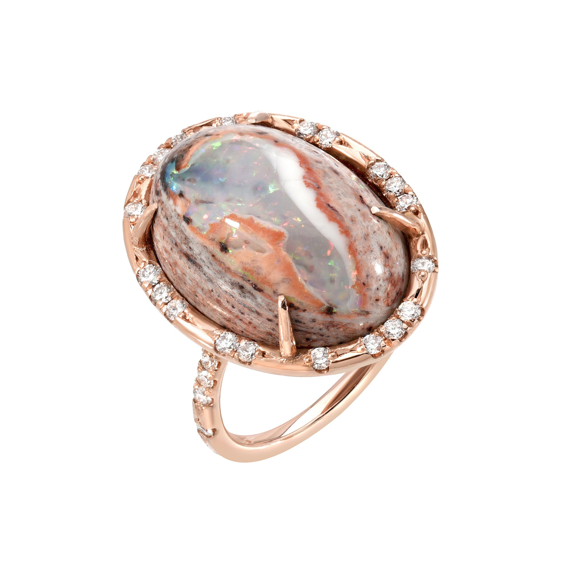 One of a Kind Mexican Matrix Opal Ring