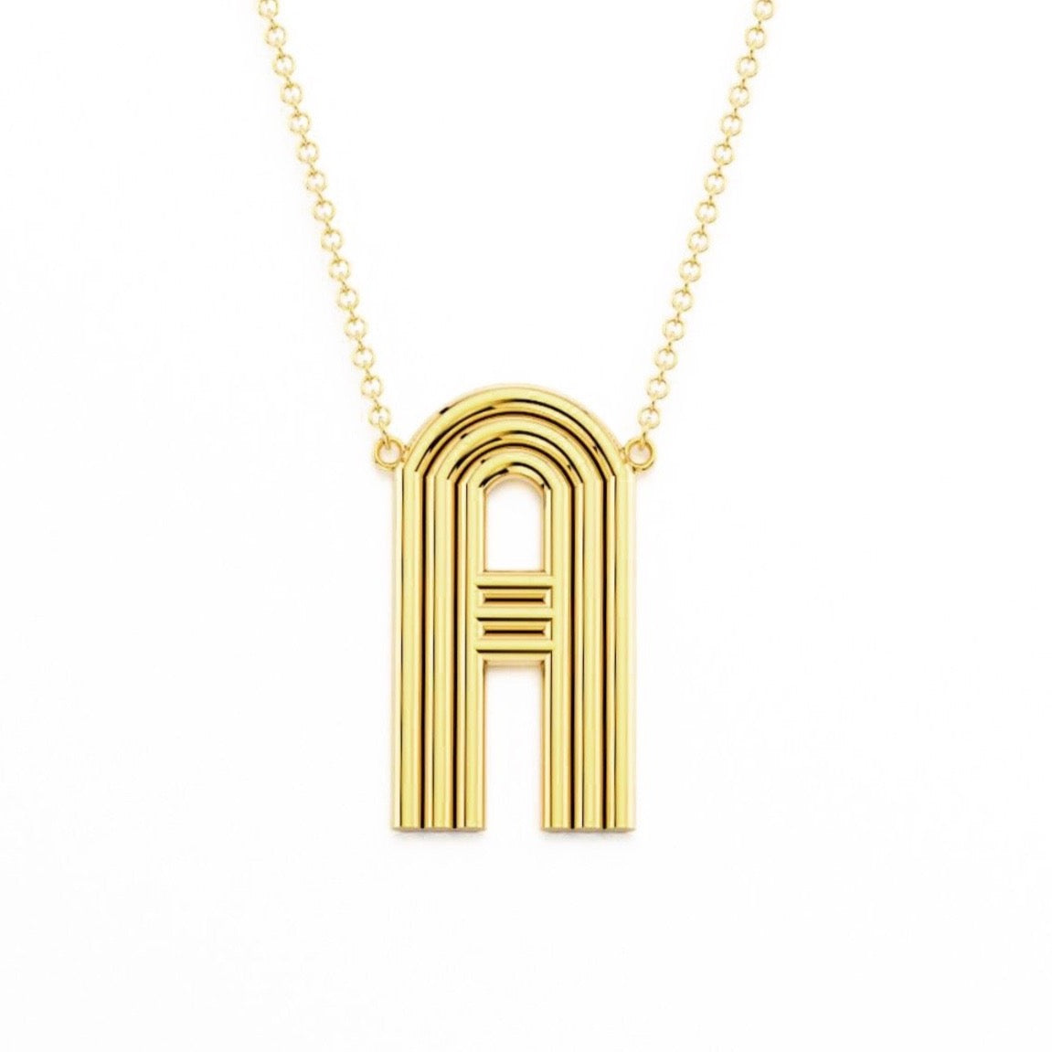 Jumbo Radiant Initial Pendant Necklace