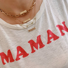 Radiant Mom Nameplate Necklace