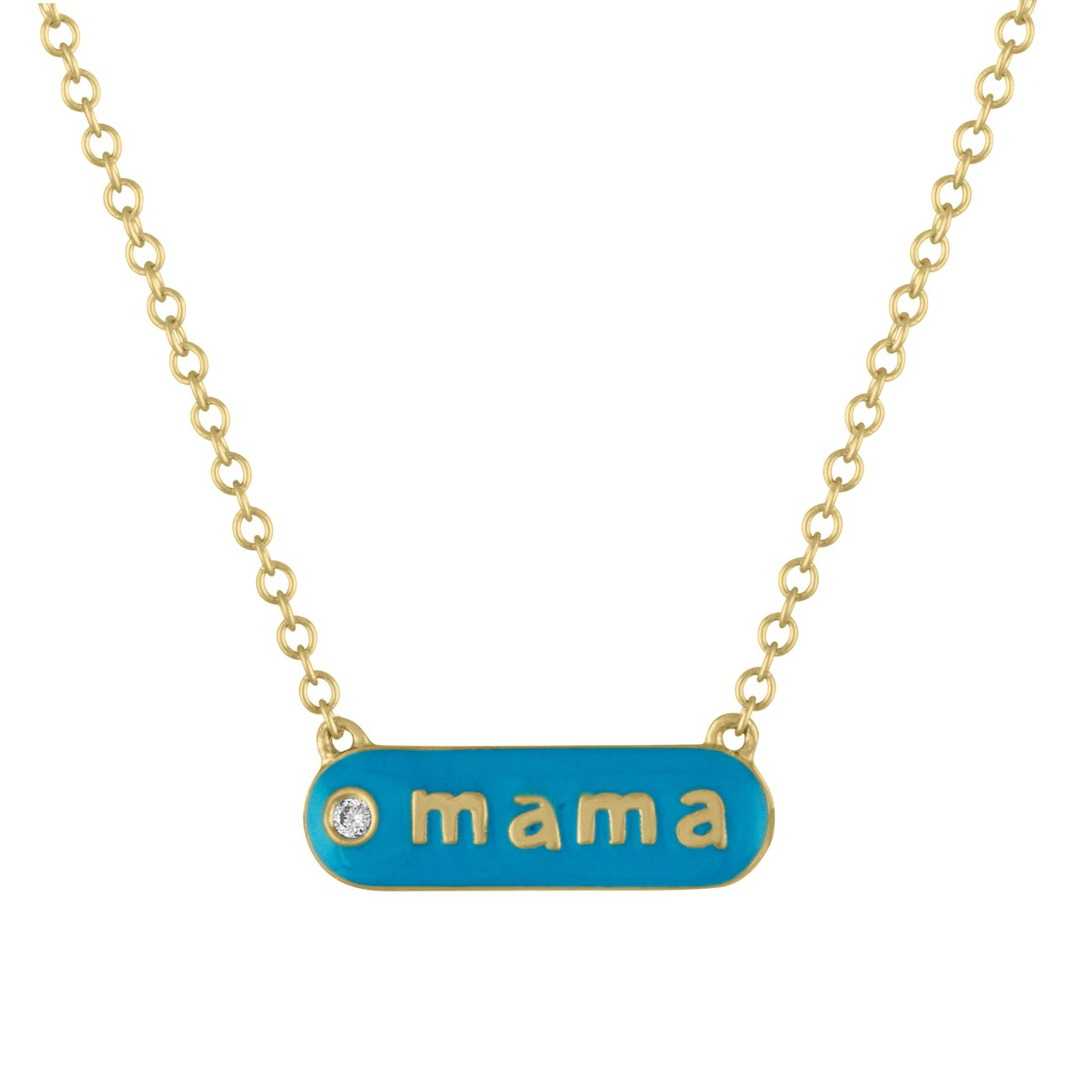 Magnolia MAMA Enamel Necklace