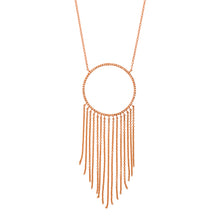 Large Open Circle Necklace with Fringe