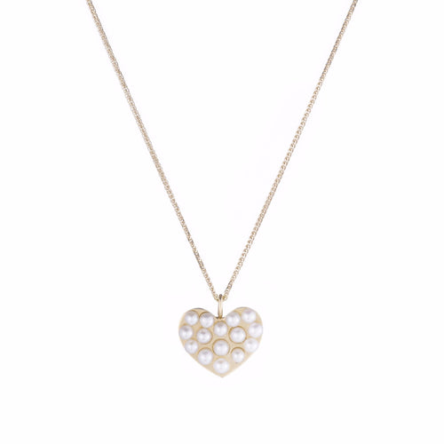Lido Heart Pearl Pendant Necklace