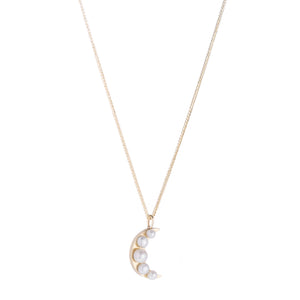 Lido Moon Pearl Pendant Necklace