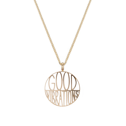 Good Vibrations Token Pendant Necklace