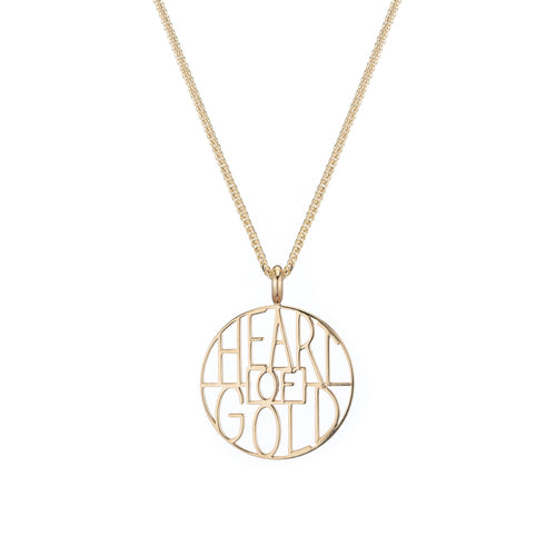 Heart of Gold Token Pendant Necklace