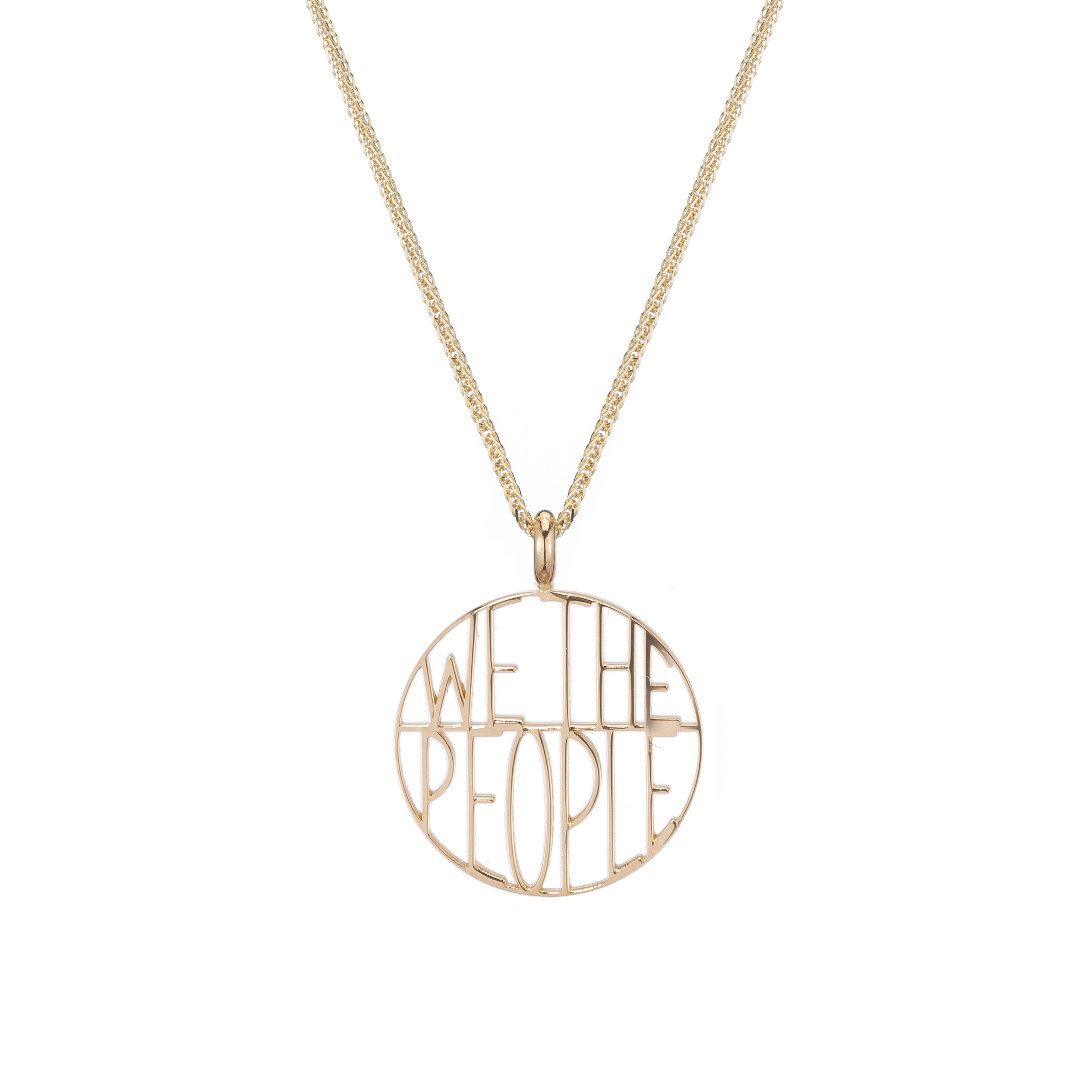 We the People Token Pendant Necklace
