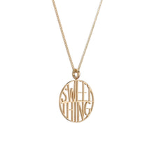 Sweet Thing Token Pendant Necklace
