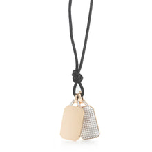 Gold Diamond Tablet Pendant (Engravable)