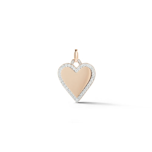 Dora Diamond Edge Heart Charm